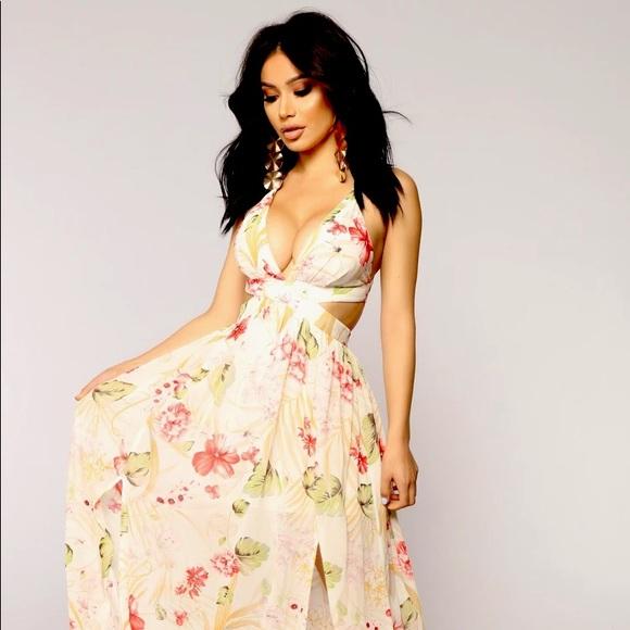FASHION NOVA Lanai Maxi Dress, Size S